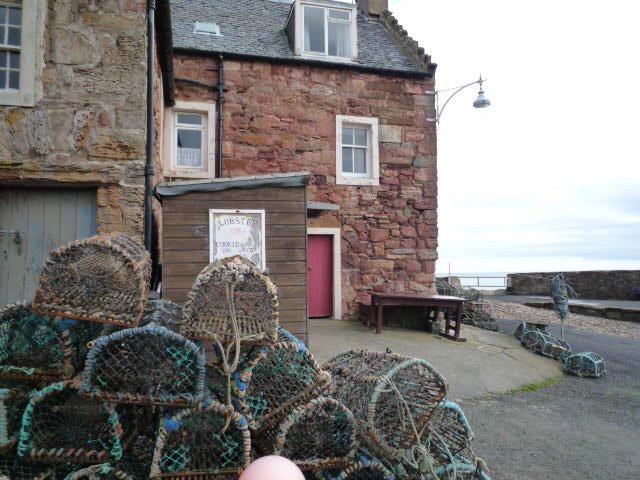 The lobster shack at Crail Harbour