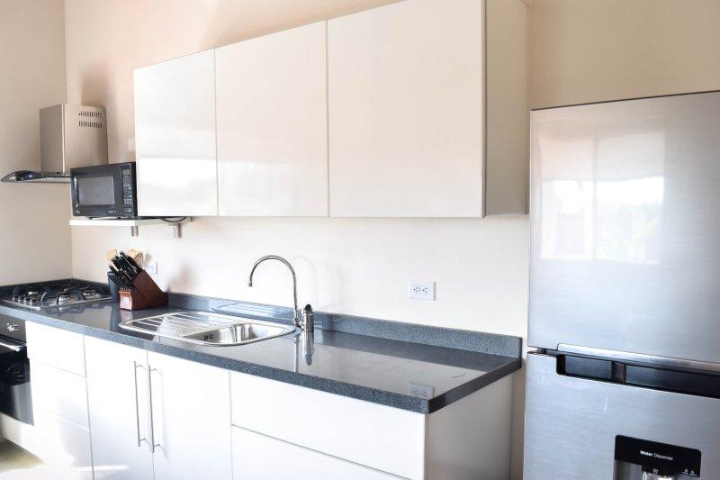 Área de cozinha de tamanho completo