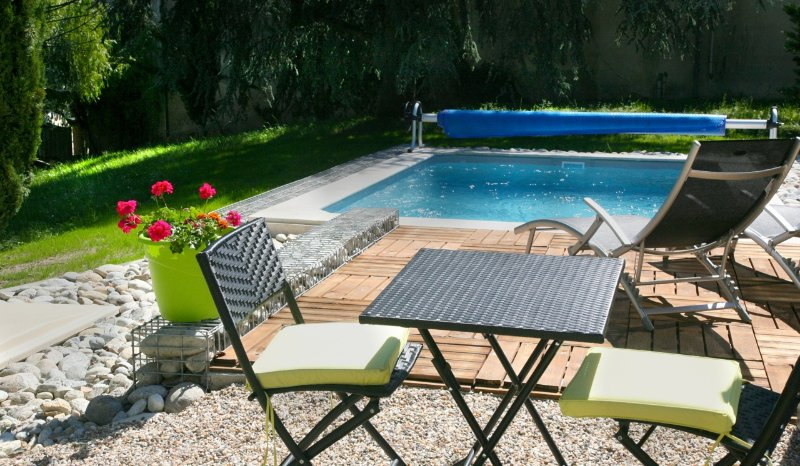 Relax by your own private pool