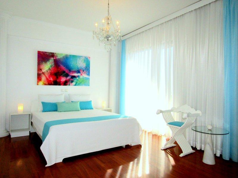 Apt No 1. Master bedroom king size bed
