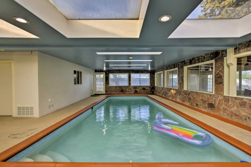 Soak up the good times spent in the indoor pool!