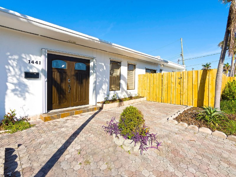 The property has a fenced gate for added privacy