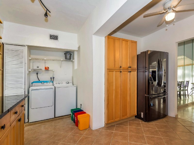 Another great amenity of this home is having a washer and dryer inside.
