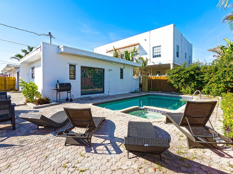 One of the many great amenities of this house is having its own private swimming pool!