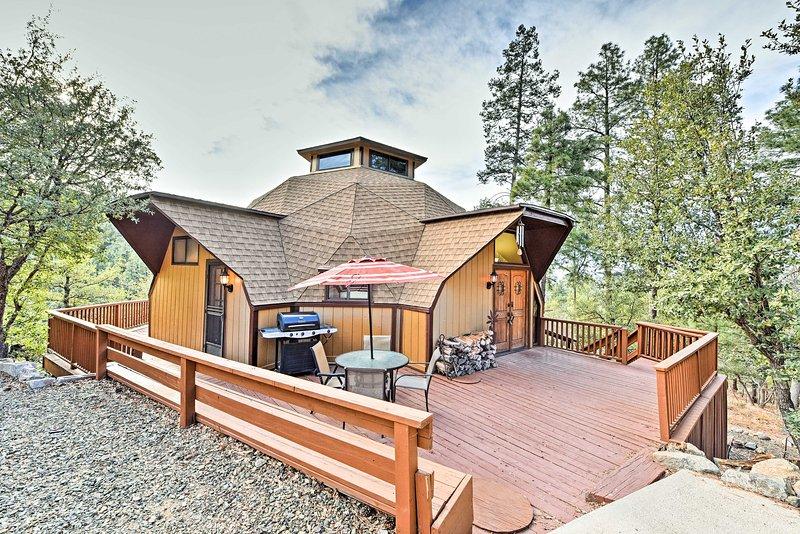 Dit charmante Prescott hut is gelegen in het Prescott National Forest!