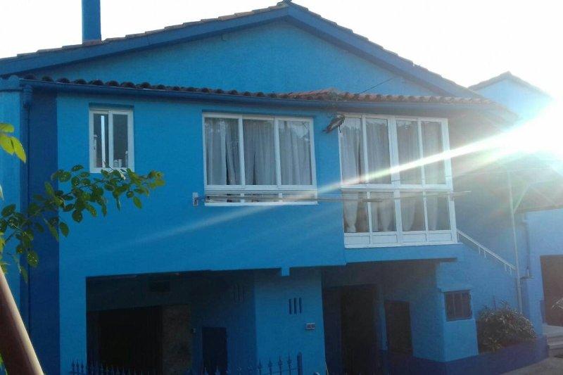 Casa Wellness, en Cristoble, también conocida como la casa azul
