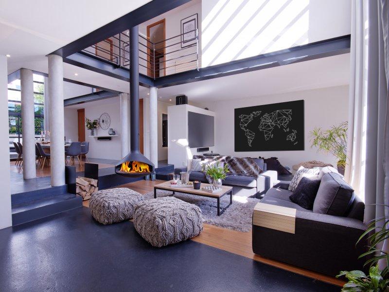 A sala de estar e home theater