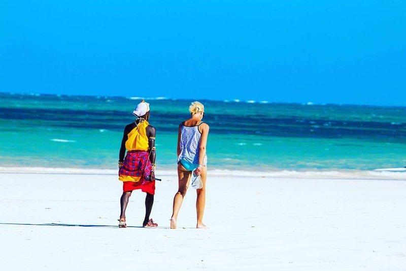 Disfrutando de las vistas del Océano Índico