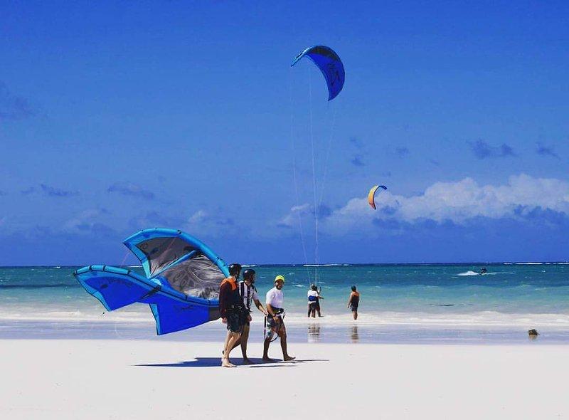 Mundial de la famosa playa de Diani