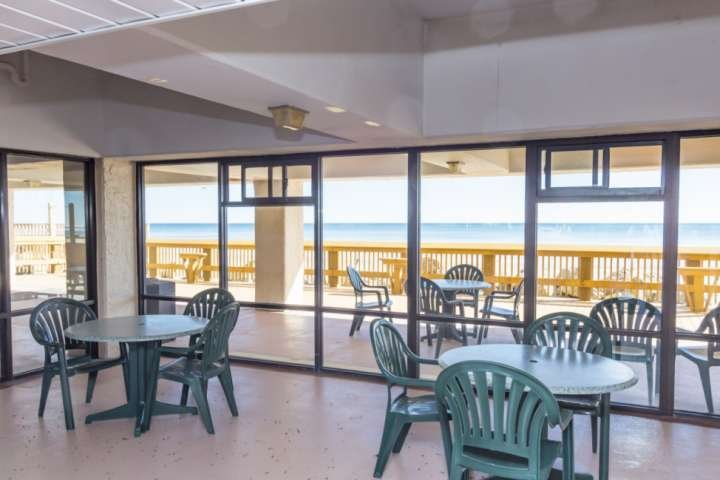 Rebuilt sundeck and shaded seating area for your enjoyment.