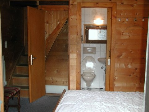 Bedroom 2 with 1 double bed and WC