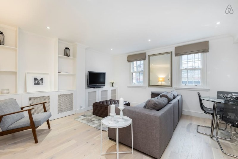 Spacious Living Room with Cozy Sofa