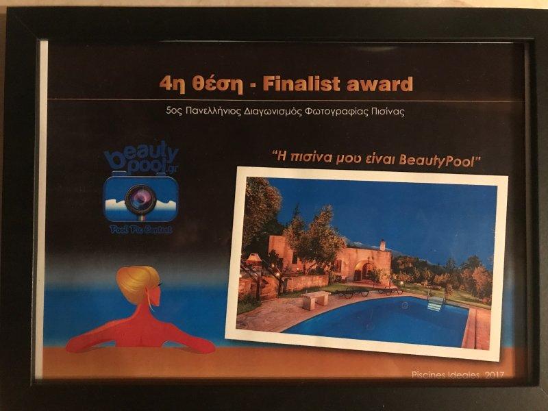 4de finalist award '' beauty pool '' in de nationale competitie 2017.
