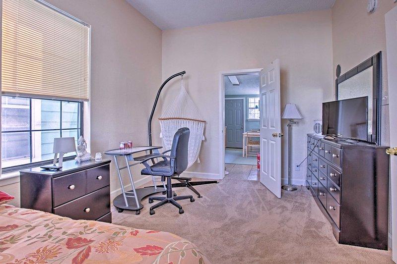 Each bedroom has a hammock chair!