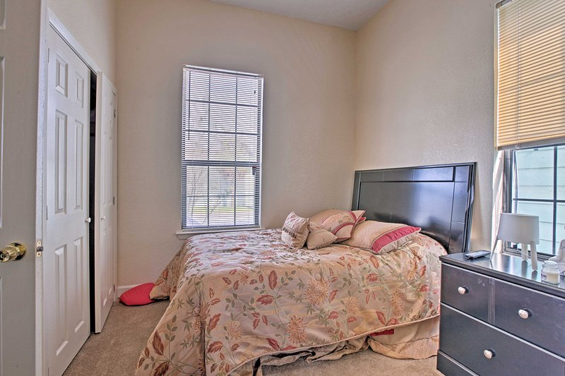 Retreat to the first bedroom for a good night's sleep.