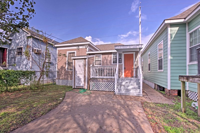 Find this quaint home nestled on the quiet streets of Galveston.