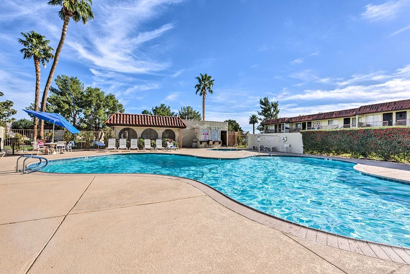 Dive into your Desert Hot Springs getaway at this vacation rental condo!