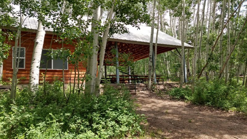 Mountain Pavilion & Cabins for large group, vacation rental in Blanding