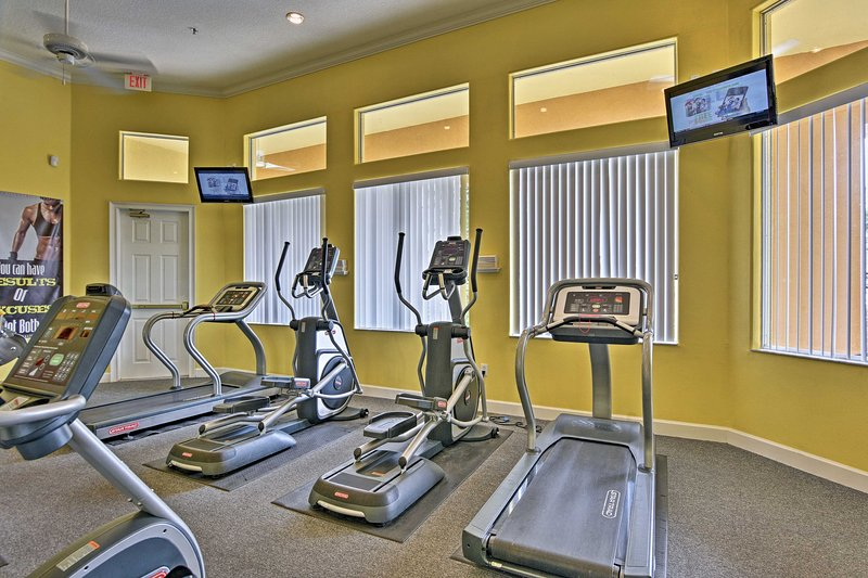 Blow off some steam in the on-site fitness center!