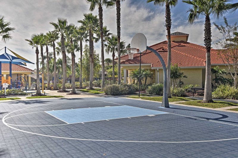 Compete with friends in a game of basketball on one of the many courts!