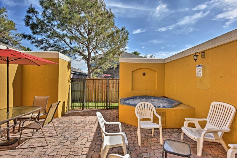 You'll have access to fabulous on-site amenities, plus a private hot tub on the spacious patio.