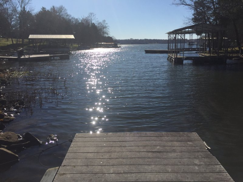 Your view out the cove and onto Old Hickory Lake from the dock.