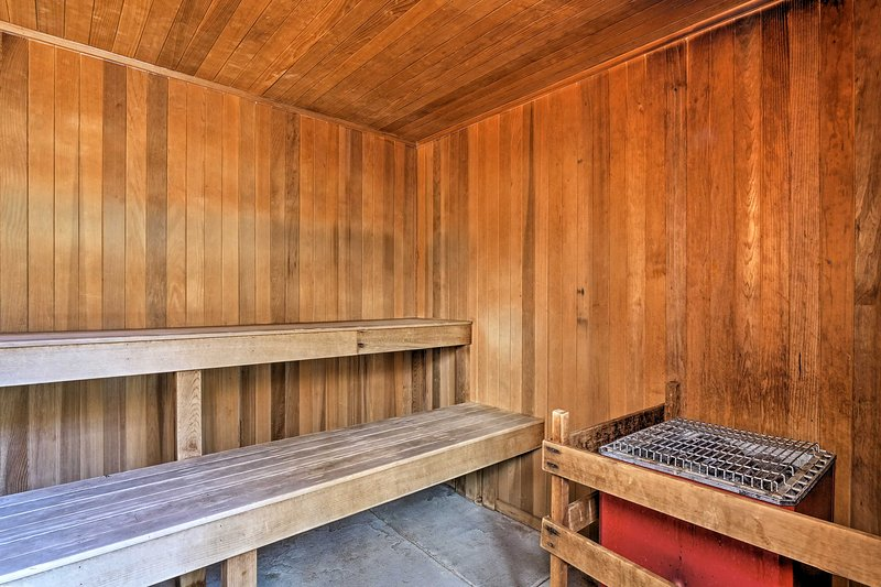 Warm up in the clubhouse sauna after a day on the slopes!