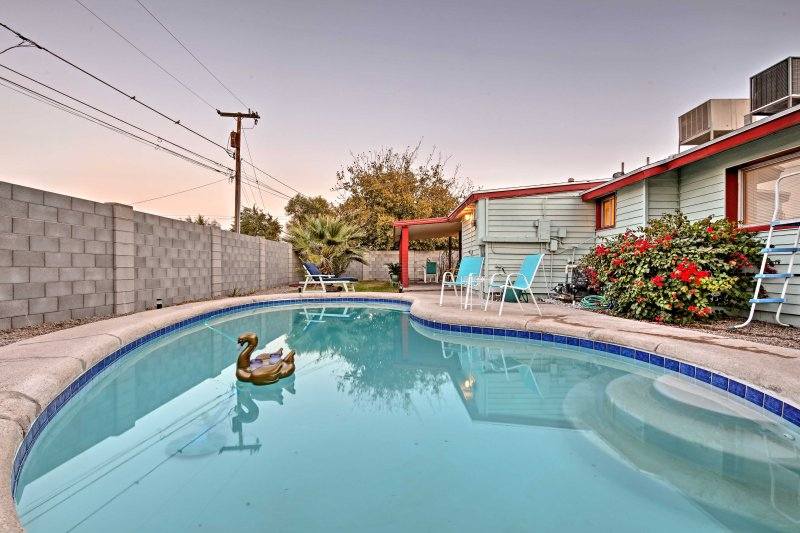 Relax in the backyard oasis of this Casa Granda vacation rental house!