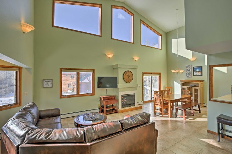 Stay at this 6-bedroom, 4-bathroom vacation rental house in Silverthorne.