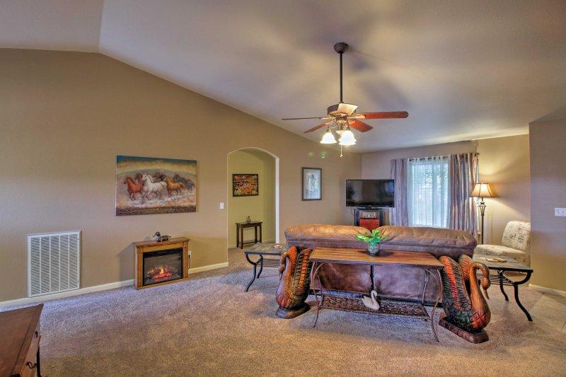 La espaciosa casa es ideal para 8 personas.