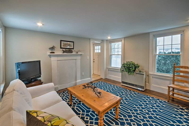 Watch your favorite shows on the flat-screen cable TV in the adjacent family room.