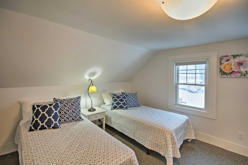 Kids can claim this third bedroom that offers 2 twin beds.