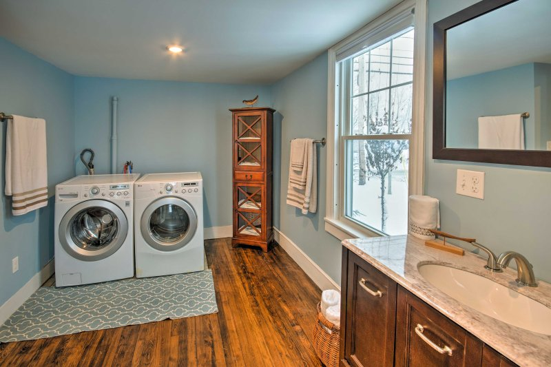 Keep clothes fresh the entire length of your trip with these in-unit laundry machines.