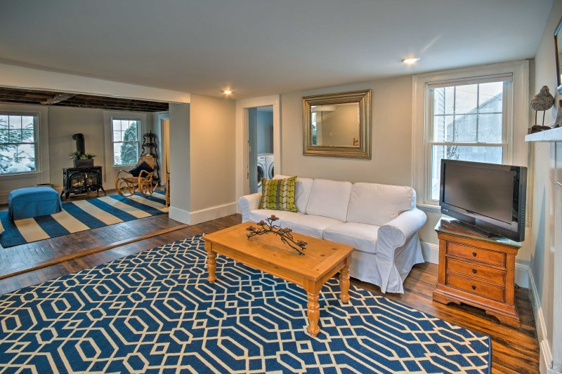 This updated home accommodates up to 8 travelers and sits within a 5-minute drive to the shops, restaurants, and museums in historic downtown.
