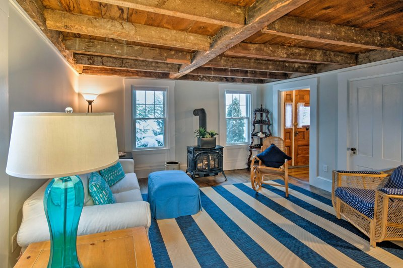 First built by Abraham Titus in the late 1800s, this 1,500-square-foot home maintains the perfect balance of old-world charm and updated amenities.