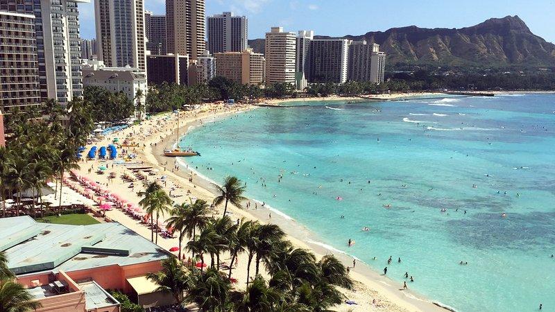 Imaginez-vous dans les 7 minutes du centre de Waikiki Beach