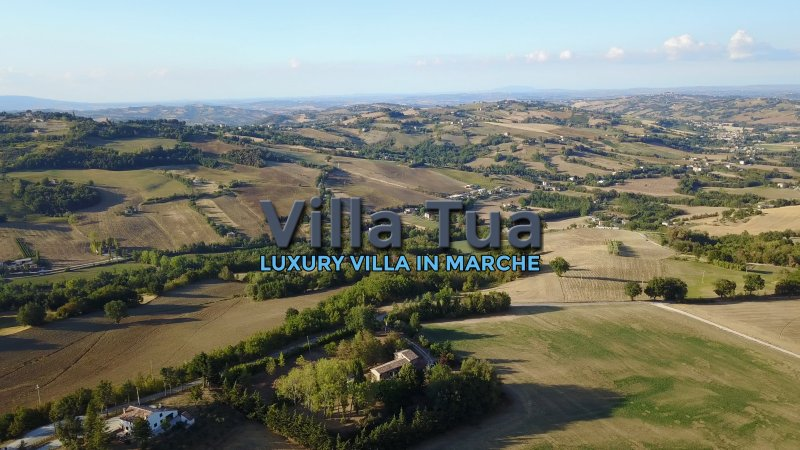 luxury villa with private pool and secure garden, holiday rental in Sant'Angelo In Pontano