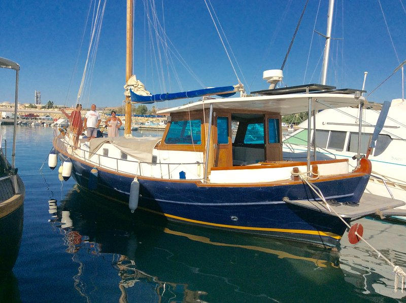 Boat trip at Zygi harbour, Dalla's Cyprus Retreat, Maroni village, Larnaca district, Cyprus.