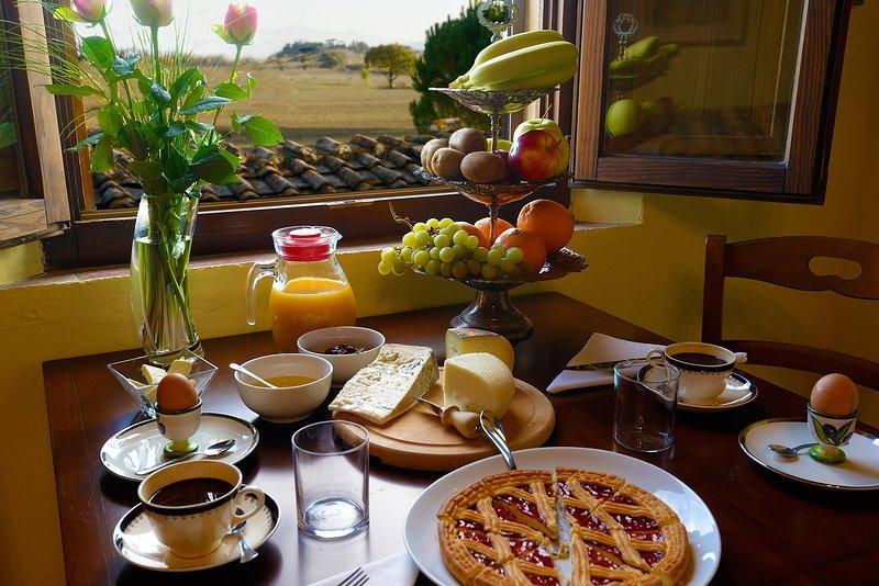 a de luxe breakfast