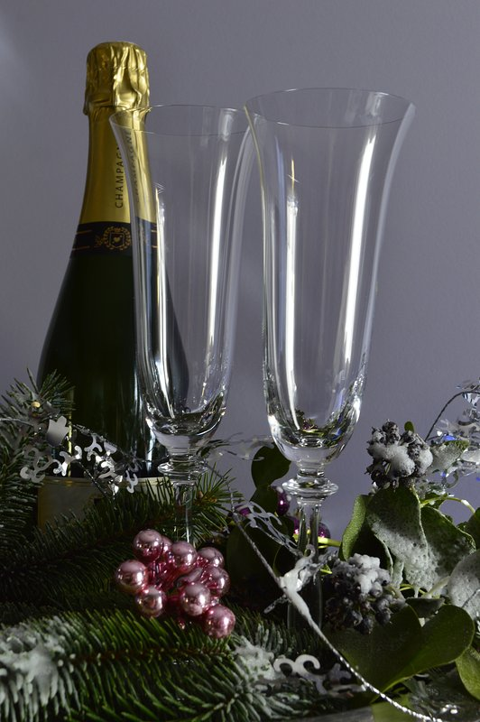 Champagne offered at Christmas and Eve!