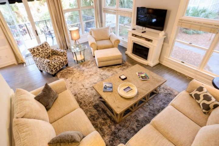 Relax and unwind in our natural light filled living room.