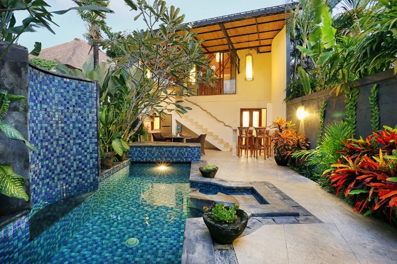 Stunning one-bedroom villa with private pool.