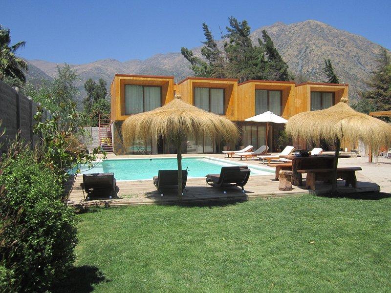 Front view of Cajon del Maipo lodge