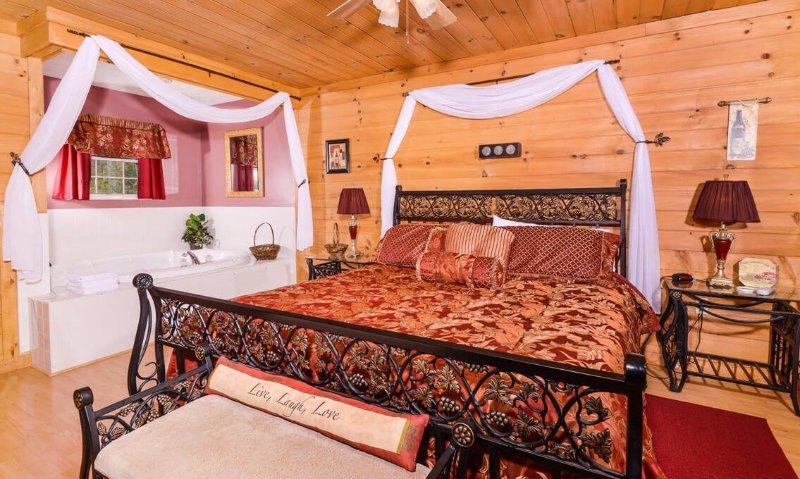 Master Bedroom with Jacuzzi Whirlpool Bathtub