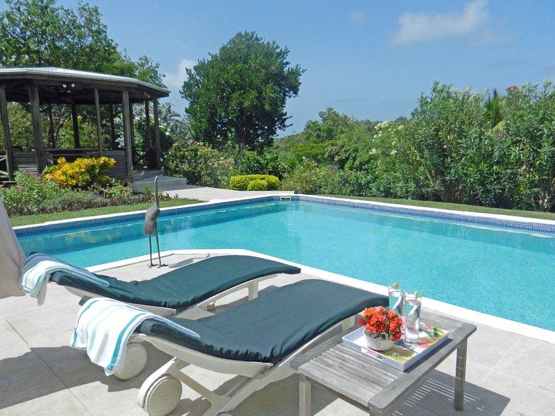 La piscina e il solarium - privato e tranquillo.
