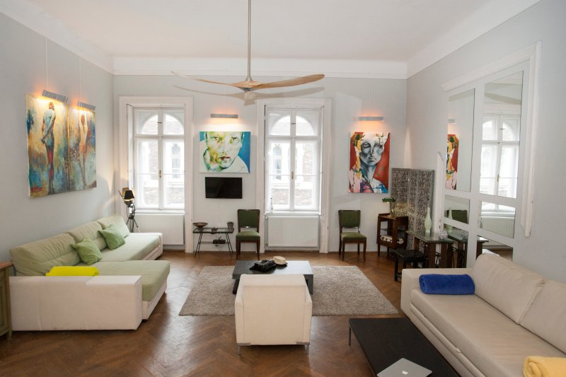 ARTY LOFT - comfortable 82 sqm in Budapest Center, holiday rental in Gyal
