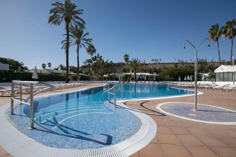 Tranquilo Bungalow en Maspalomas+Gran Terraza+Wifi – semesterbostad i Playa del Inglés