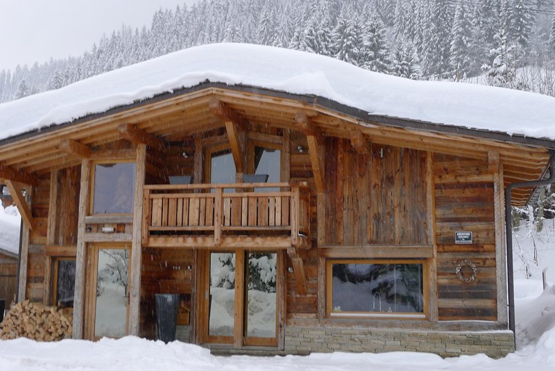 Superb Chalet (Direct Ski In and OUT) old wood, in a dream location, location de vacances à Megève