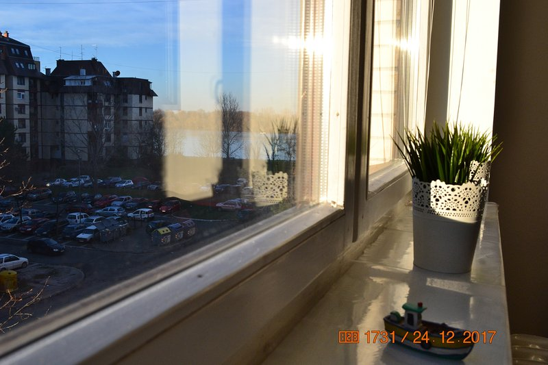Danube view from living room
