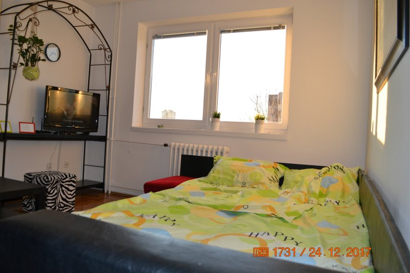 living room with open bed of 2.6 meters for 2 persons